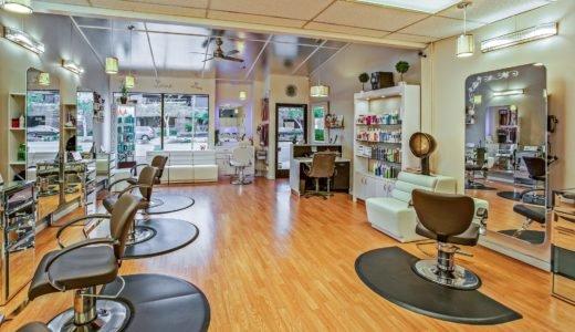 Empty salons because of the coronavirus pandemic