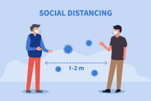 Picture illustrating Social Distancing