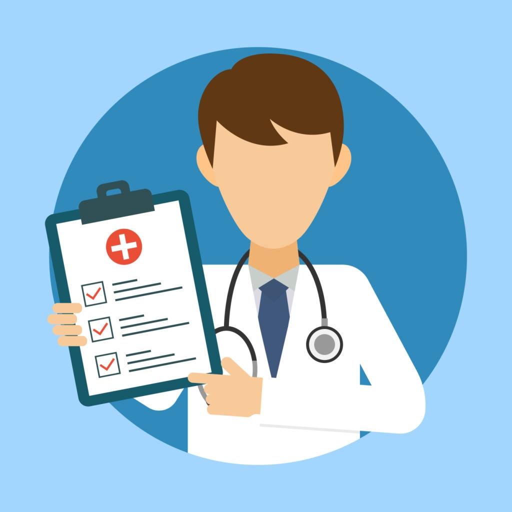 A doctor providing information regarding medicines