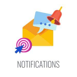 push notification feature courier service app development