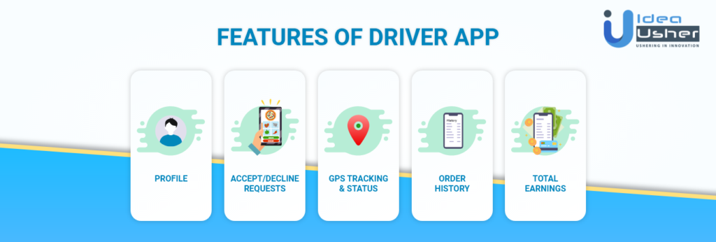 Features of Driver App