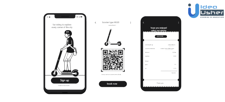 how to use Uber app for scooter