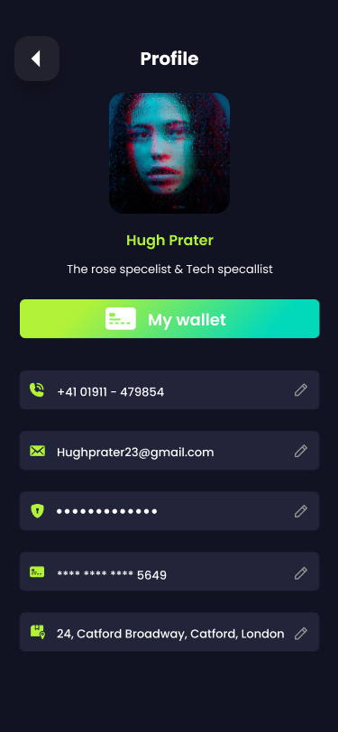 nft app user interface