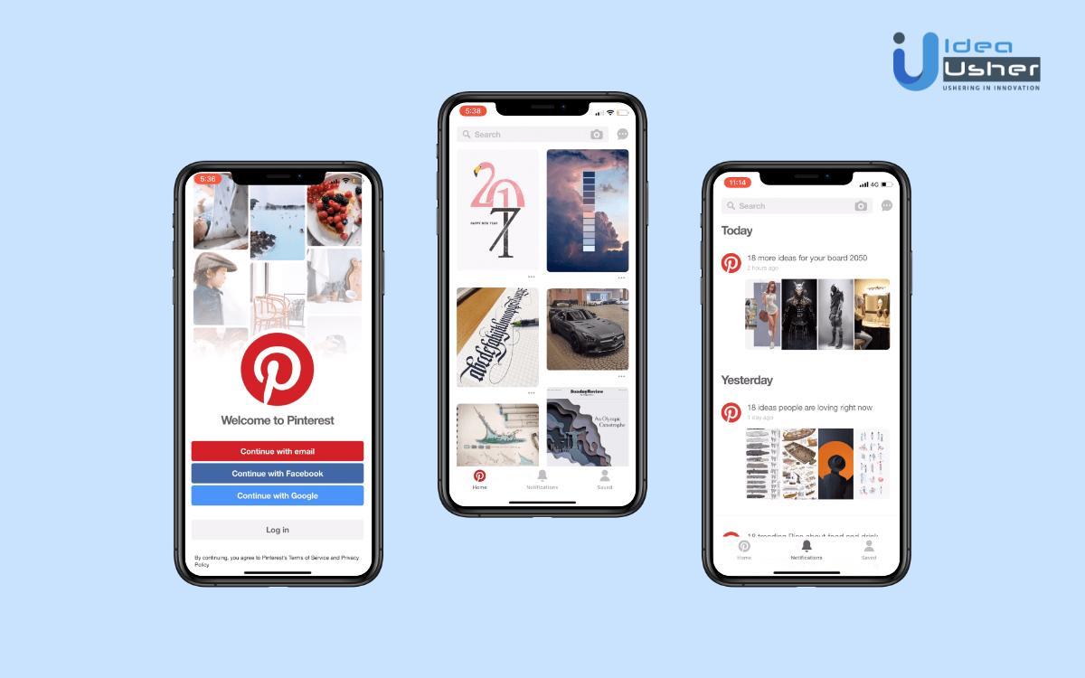 how to create an app like pinterest