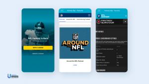 NFL fantasy football app interface
