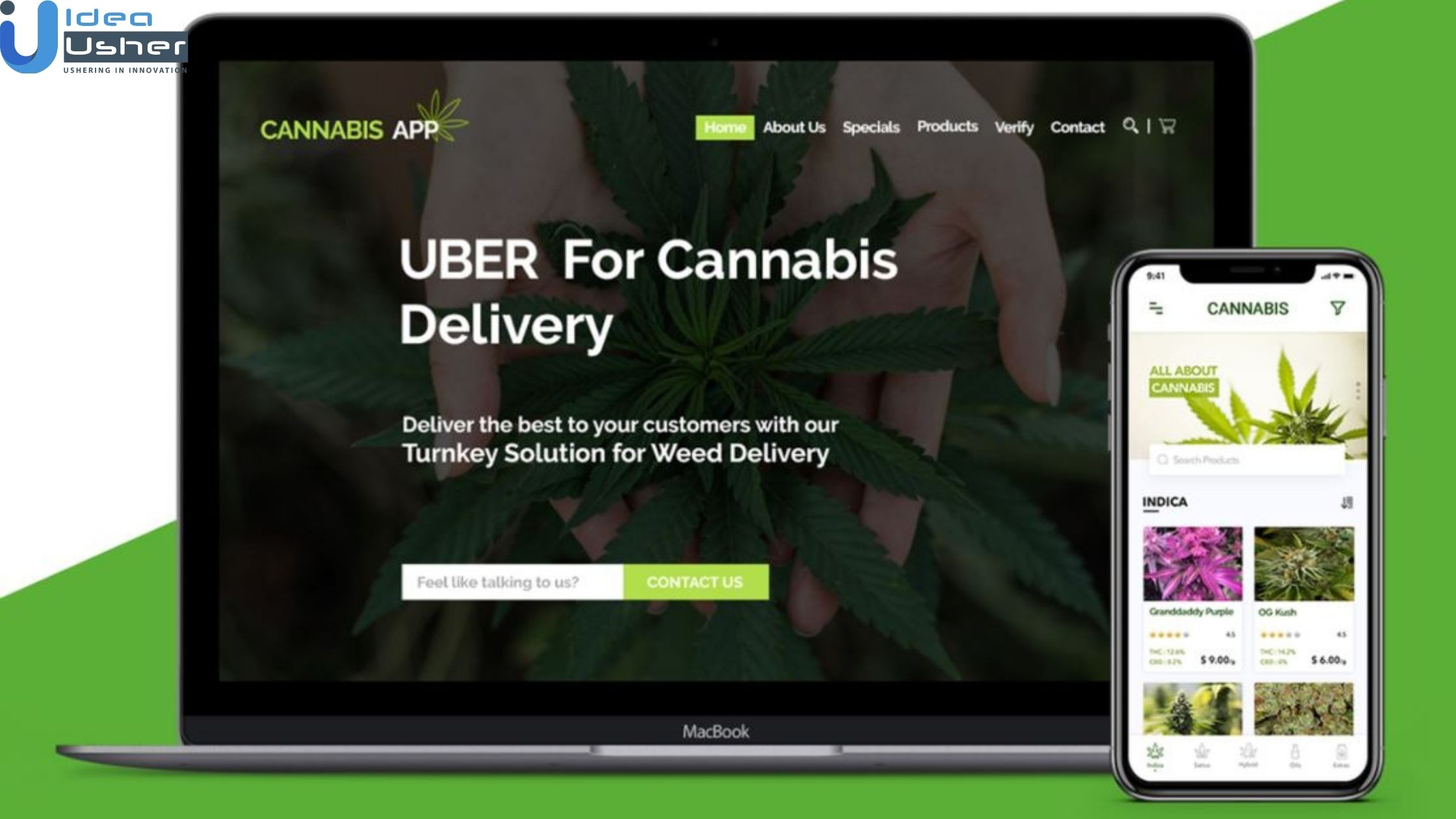 weed delivery app development