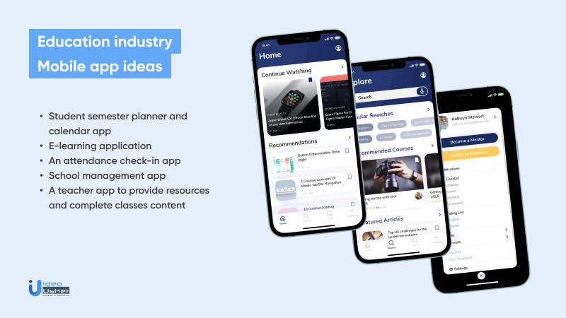 Popular education industry app ideas