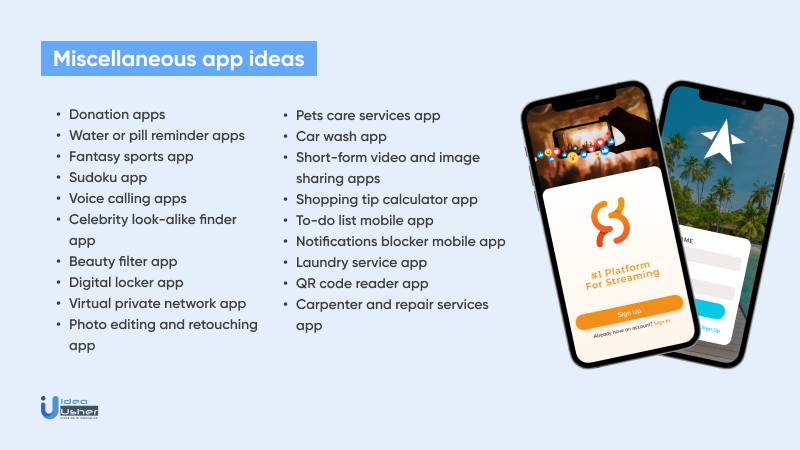 Miscellaneous app ideas