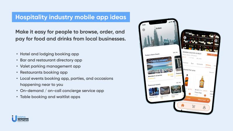 Popular hospitality industry app ideas