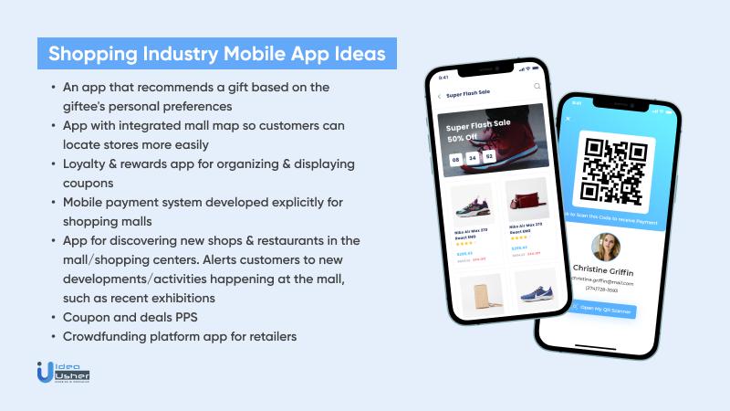 Popular shopping industry app ideas