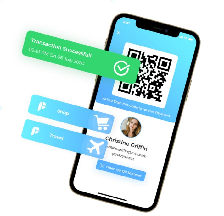 payments app development mockup