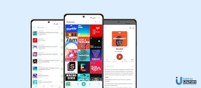 what does podcast app look like