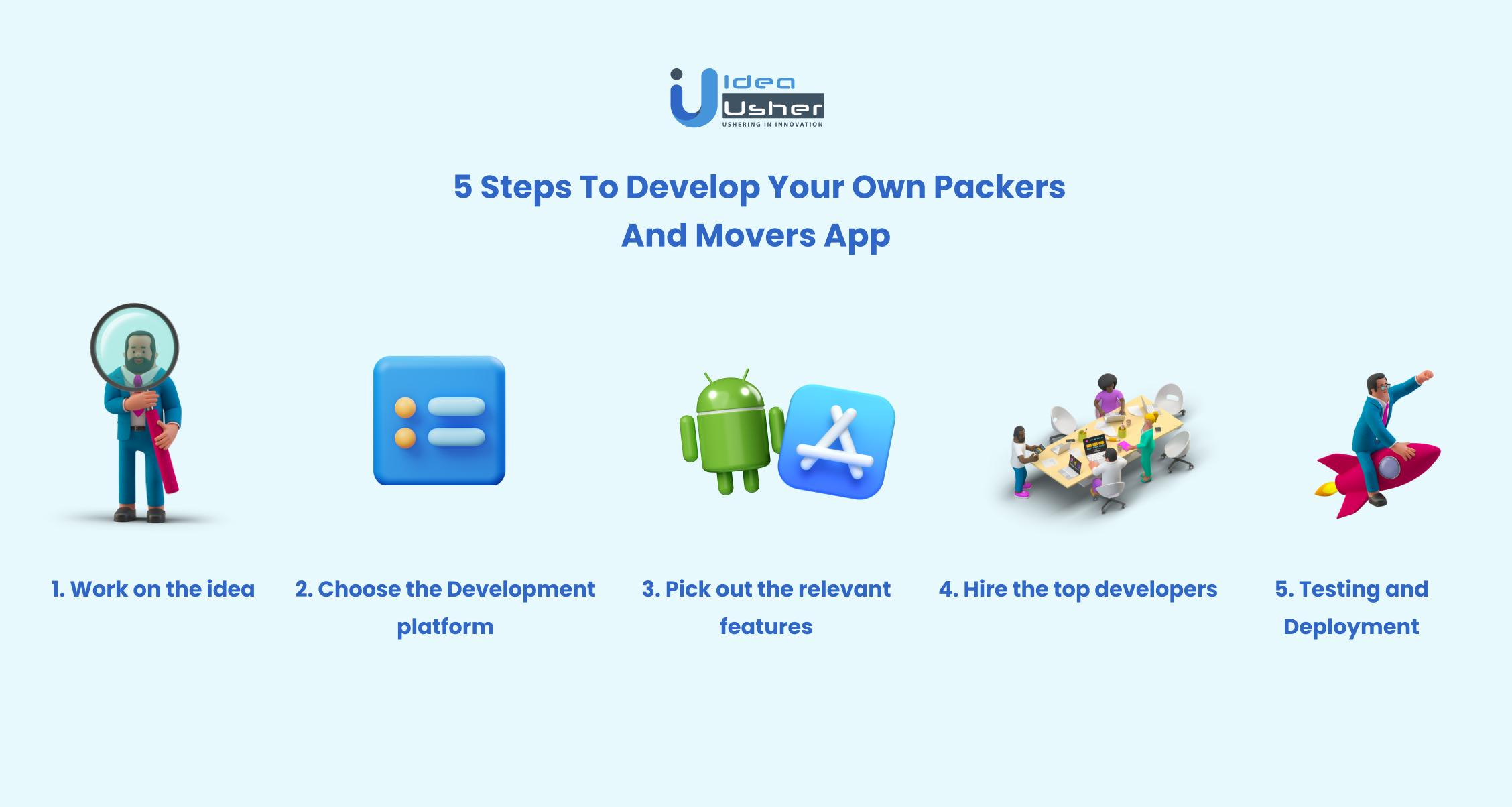 Steps to develop movers and packers app