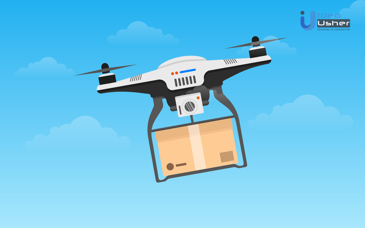 Drone courier delivery business